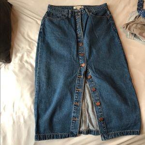 Madewall shin length pencil skirt